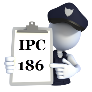 Indian Penal Code IPC-186