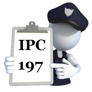 Indian Penal Code IPC-197