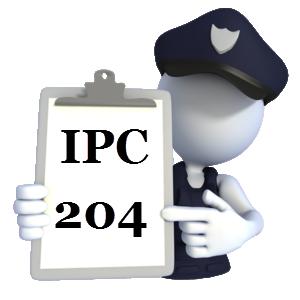 Indian Penal Code IPC-204