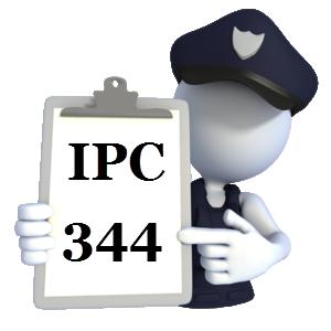 Indian Penal Code IPC-344