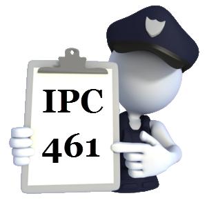 Indian Penal Code IPC-461